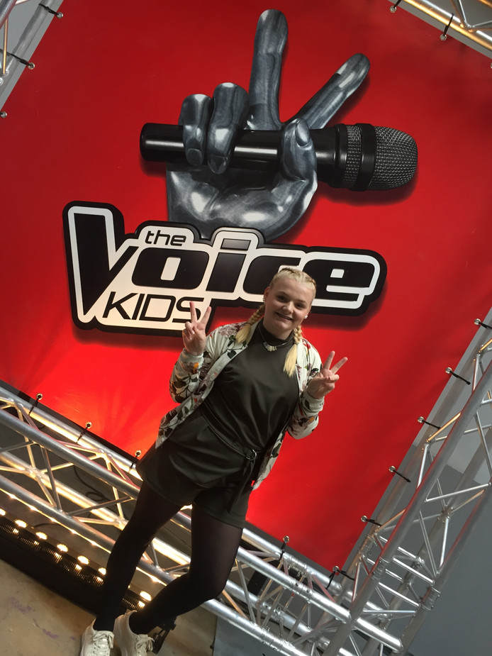 Karlijn Luisman is vanavond te zien in de 'blind auditions' van The Voice Kids.