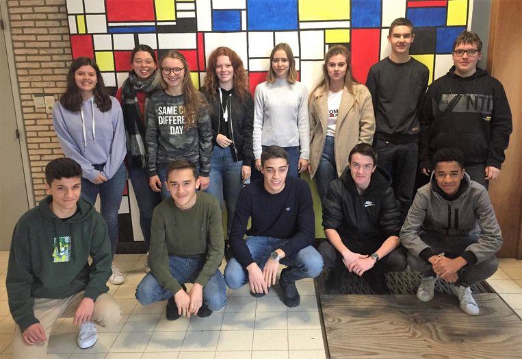 Dertien leerlingen van 5HA, 6HA en 6HU van Campus De Reynaert brengen op 11 mei heel veel kleur naar Tielt
