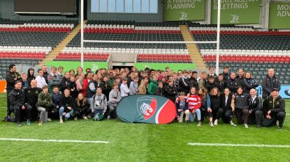 Jeugd Dendermonde Rugby Club op stage bij topclub Leicester Tigers