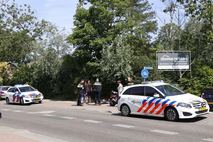 Het ongeluk op de Wanroijseweg.