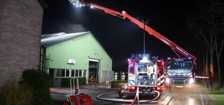 Flinke schade door brand in bedrijfsloods Eede