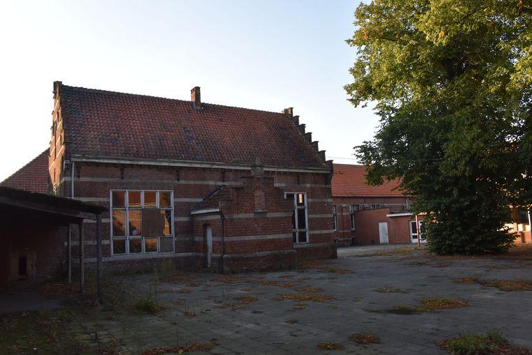 Een beeld van de oude kloostersite.