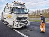 A58 bij Bavel weer vrij na ongeluk met vrachtwagens