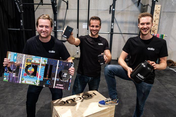 Moos Tits, Alexander Van Laer en Niels Peetermans van Qallo in hun E-Sports Performance Center in Kontich.