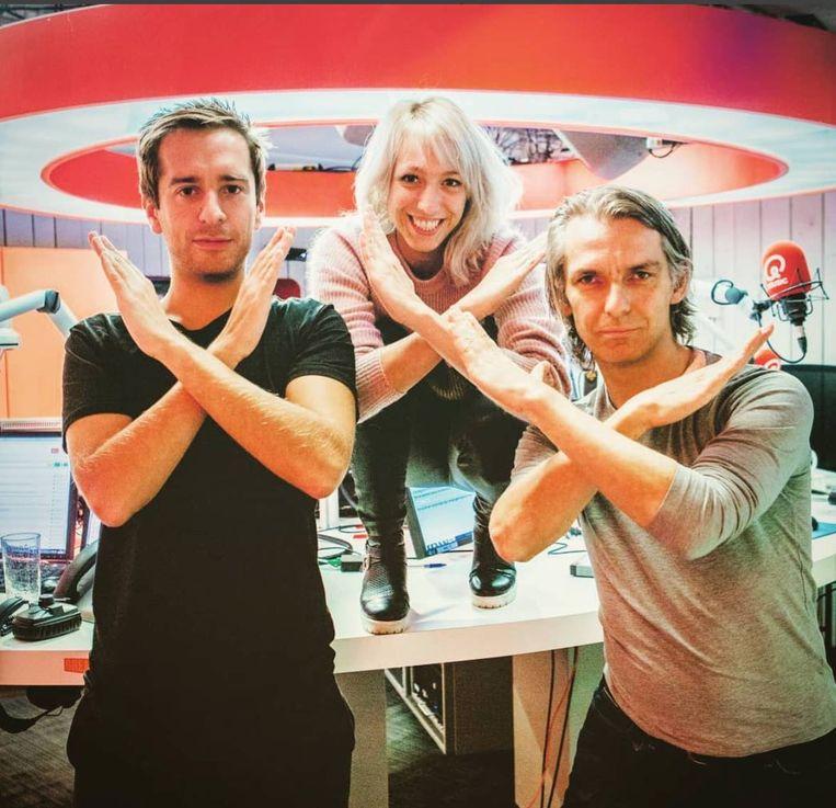 Sam De Bruyn, Heidi Van Tielen en Wim Oosterlinck kruisen bij QMusic de armen tegen cyberspesten