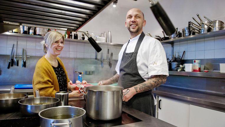 Tanja en Steven van restaurant Onder de Linden. Beeld Reyer Boxem