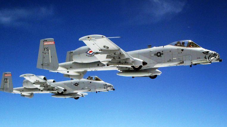 De A-10 Warthog.