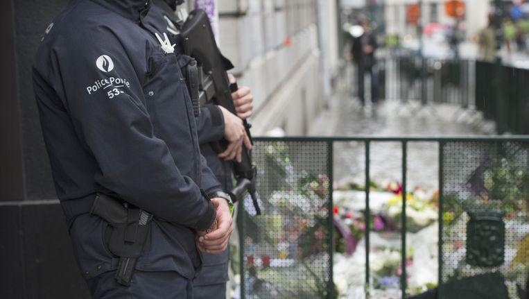 Politie aan het Joods Museum in Brussel