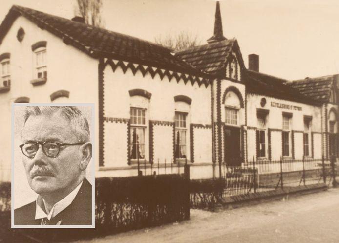 De inmiddels verdwenen RK Volksbond in Boxmeer. Inzet: Henri Hermans.