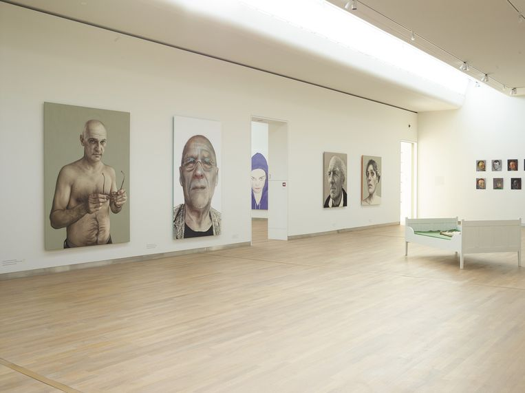 Het museum met schilderijen uit de inboedel van Dirk Scheringa. Beeld Henk Wildschut