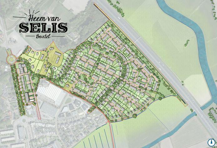 Ontwerp nieuwe woonwijk Heem van Selis Boxtel.