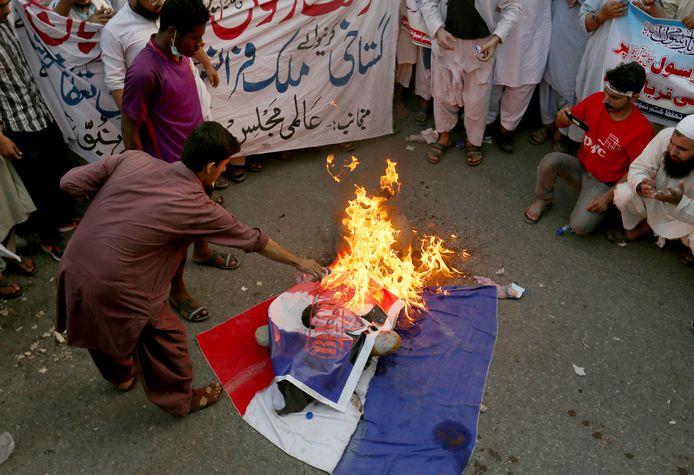 Manifestation au Pakistan contre la France.