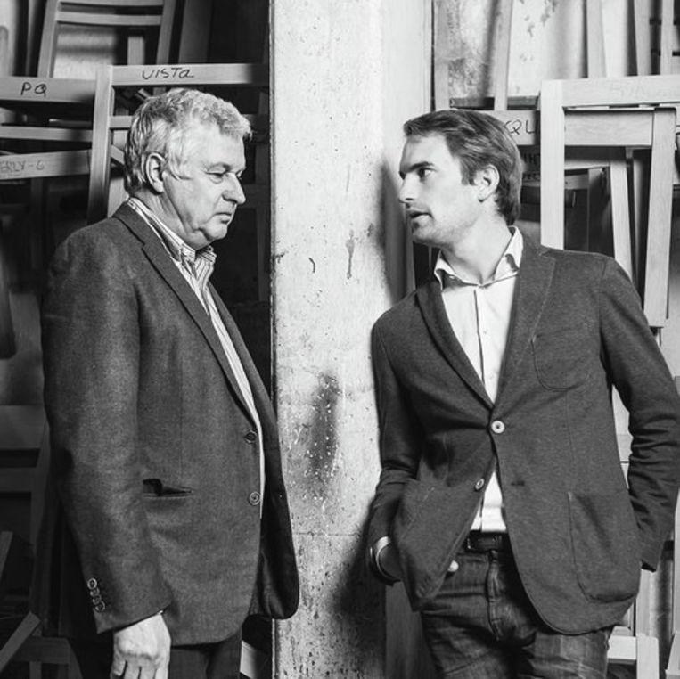 Geert en David Behaegel van de Ardooise stoelenfabrikant De Zetel.