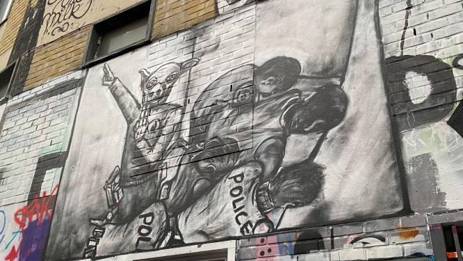 In het Graffitistraatje mag bijna alles, maar geen Hitlergroet: Chovanec-kunstwerk moet weg