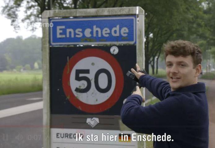 Presentator Jurre Geluk trekt vanavond door Enschede