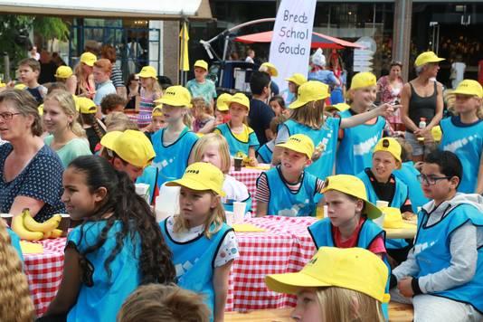 De kinderkaasmarkt vorig jaar. Foto: Jan van den Berg