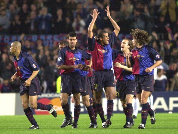 Barça vierde ook al in 2000 na een knappe remonte.