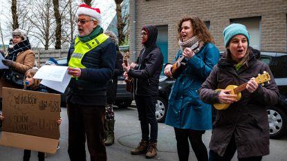 Damcomité trekt de straat op met heel eigen 'Nieuwjaarke Zoete': buurt wil aanpassing van plannen voor 2.500 woningen