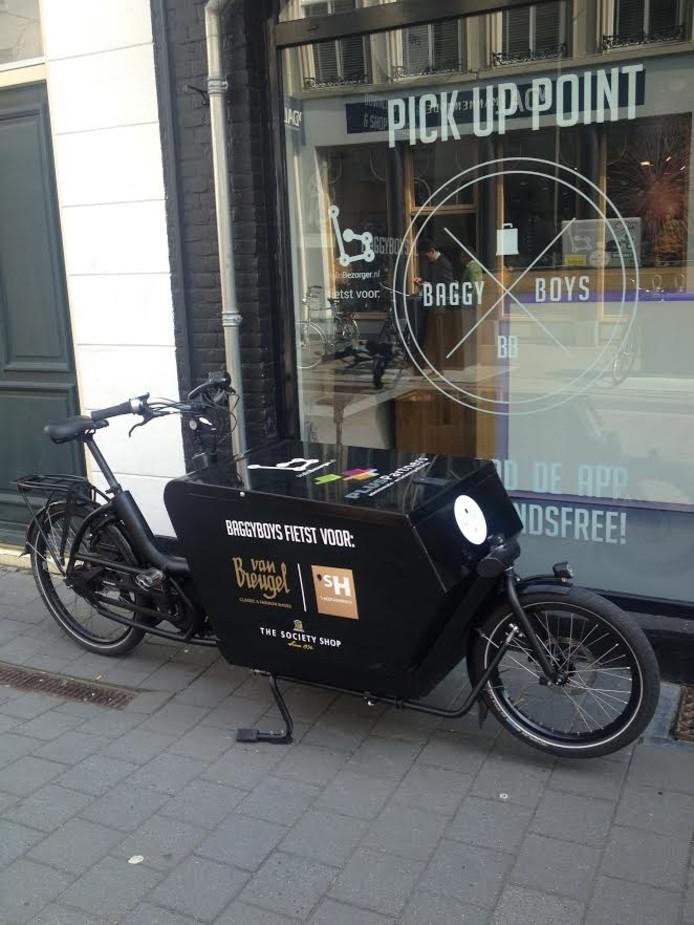 Pick-up point van BaggyBoys in de Verwersstraat.