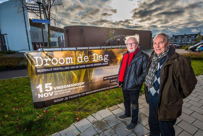 Jan Kremer (links) en Harm te Winkel bij de aankondiging van 'Droom de dag'.