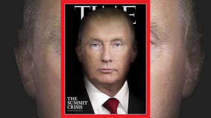 'Vladimir Trump' siert cover van Time Magazine