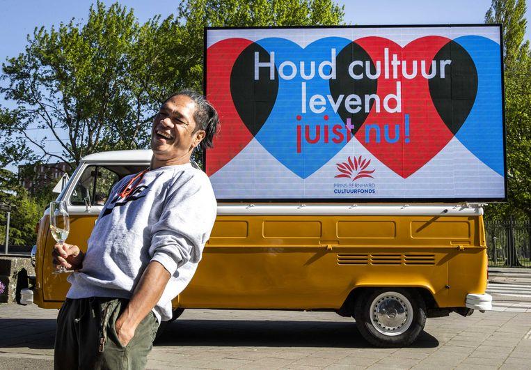 Artistiek leider Marco Gerris van dansgezelschap ISH wordt verrast met de Prins Bernhard Cultuurfonds Prijs. Beeld ANP