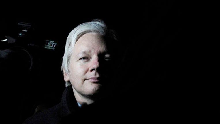 WikiLeaks-oprichter Julian Assange eerder deze maand bij het Hooggerechtshof in Londen, waar een zaak loopt over zijn uitlevering aan Zweden. Beeld EPA