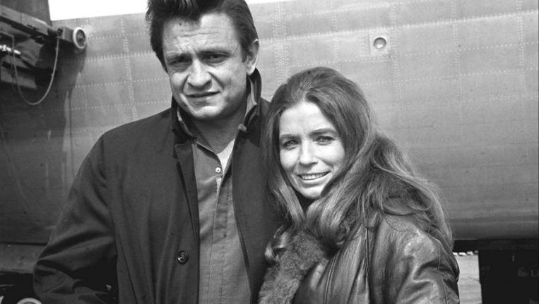 Johnny Cash met zijn grote liefde June Carter. Beeld epa