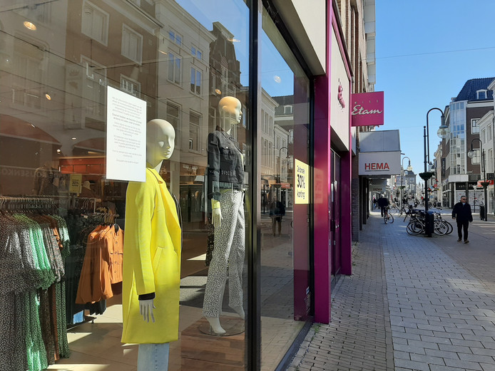 Steeds meer winkels in de Gorcumse binnenstad zijn gesloten, zoals Miss Etam.