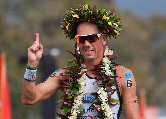 Frederik Van Lierde bij z'n winst in Hawaï in 2013.