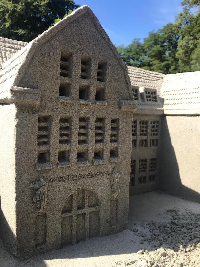 De polikliniek van het Grootziekengasthuis in zand