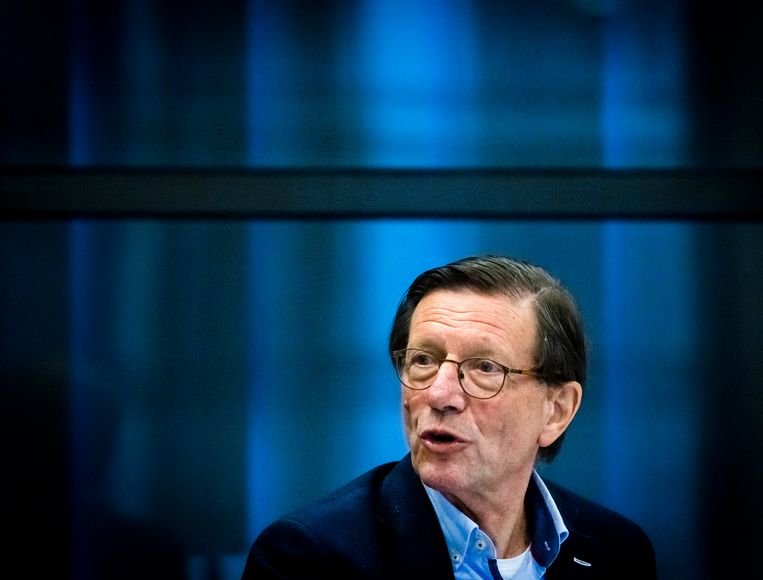 Wim Schellekens van het RedTeam tijdens een overleg in de Tweede Kamer. Beeld Hollandse Hoogte /  ANP