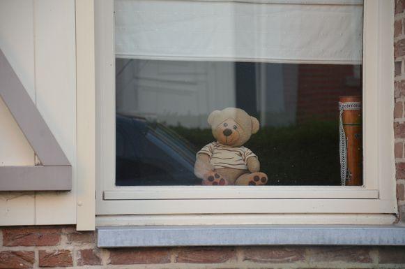 Deze beer zit klaar voor de berenjacht.