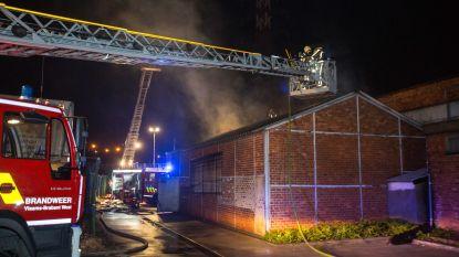 Brandweer heeft hele nacht werk met loodsbrand