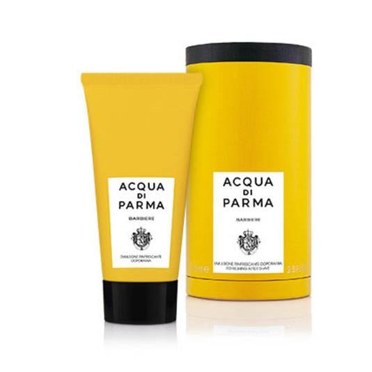 Une lotion After Shave de la marque Acqua Di Parma. Prix: 42 euros.