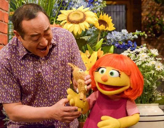 De autistische muppet Julia.