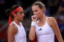 Caroline Garcia en Kristina Mladenovic.