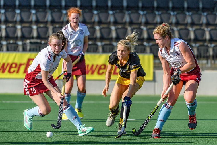 De wedstrijd tussen HC Den Bosch en Loreto HC. Beeld Bart Scheulderman