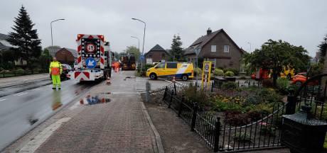 Chauffeur raakt tuinhek na probleem met trailer, mist huis ternauwernood