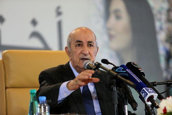 De Algerijnse president Abdelmadjid Tebboune wacht op excuses wacht van Frankrijk voor de kolonisering van zijn land.