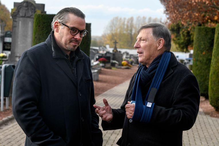 Slachtoffer David Van de Steen en zijn advocaat Jef Vermassen.