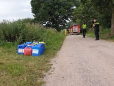 Vaten met drugsafval gedumpt in Hengelo