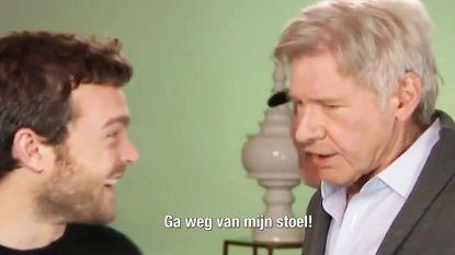 VIDEO: Nieuwe Han Solo-acteur Alden Ehrenreich oog in oog met échte Harrison Ford