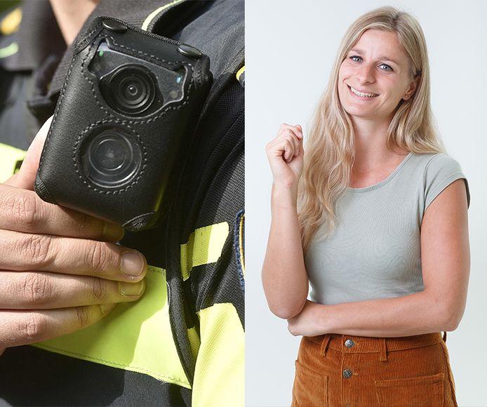 Bodycams tegen agressie: columnist Fee Buurmans vindt er wat van.