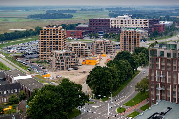 Wie tussen de regels door leest, ziet het Bossche probleem: woningen die gebouwd worden in het Paleiskwartier en Willemspoort (foto), in kantoren en in de middeldure huur.