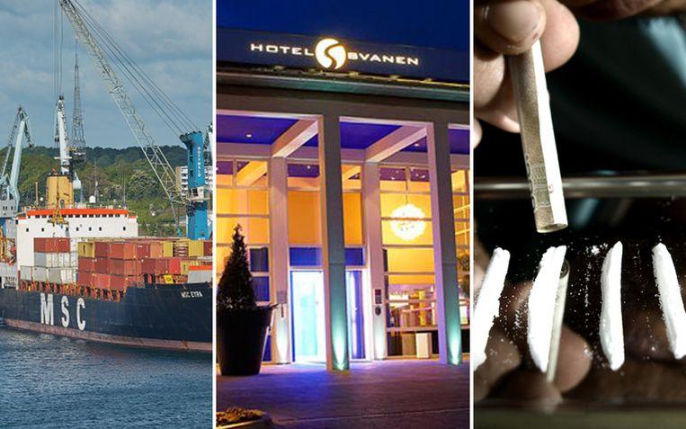 Zeven mannen uit België en Nederland gingen dagenlang op zoek naar een partij drugs die per ongeluk in Denemarken belandde. Overdag rustten ze op hotel uit van hun nachtelijke zoektochten in de haven.