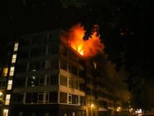 Uitslaande brand in appartement Kapitein Luidingaflat in Zwijndrecht
