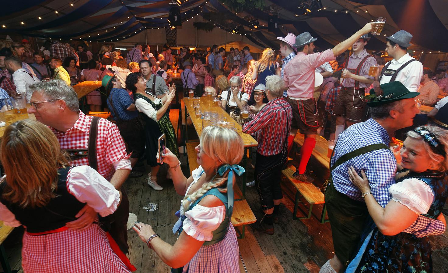 Een Oktoberfest dat werd gehouden in de Ketting in Boxtel.
