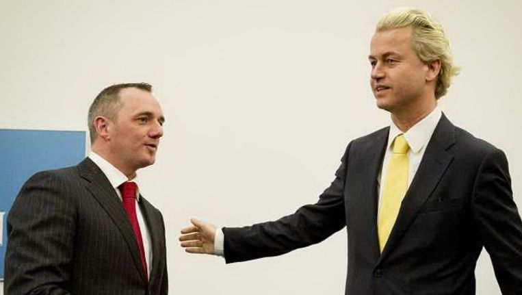 Machiel de Graaf (L) en Geert Wilders (R). Foto: anp Beeld