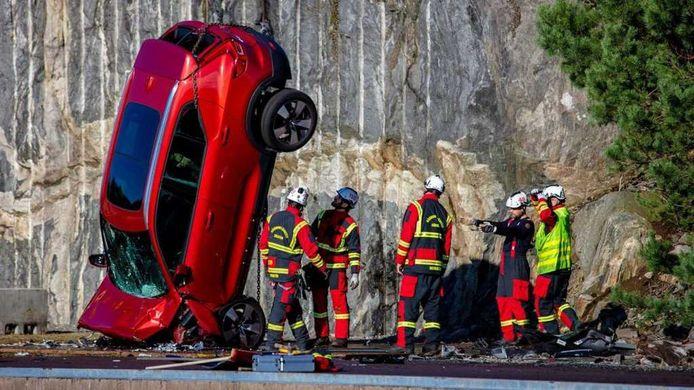 Een crashtest van Volvo.